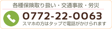 宮津市よこまち鍼灸整骨院の電話番号:0772220063
