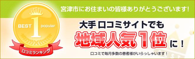 宮津市の口コミ人気地域No.1