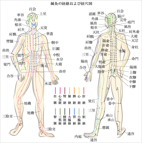 与謝野町の鍼灸の図