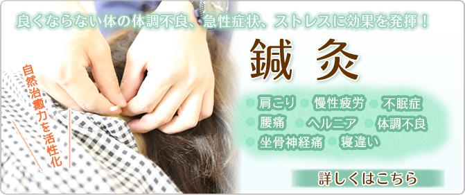 良くならない体の体調不良、急性症状、ストレスに効果を発揮!鍼灸